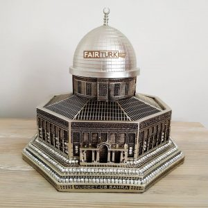 Large Size Silver Color 3D Al-Aqsa Mosque Islamic Table Decor