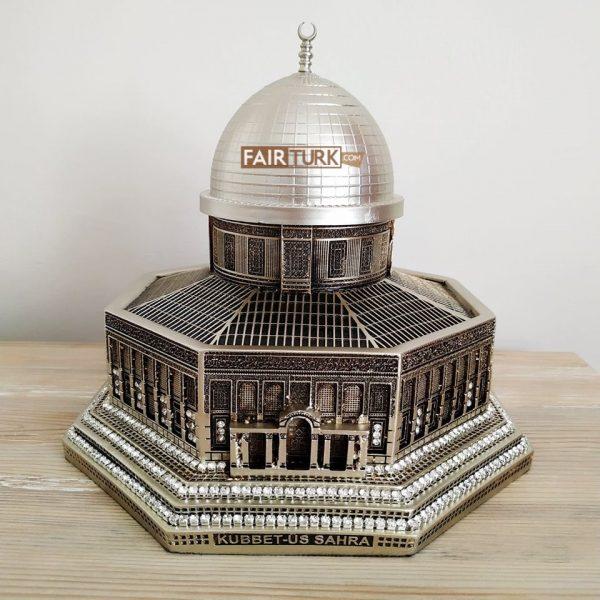 Large Size Silver Color 3D Al-Aqsa Mosque Islamic Table Decor