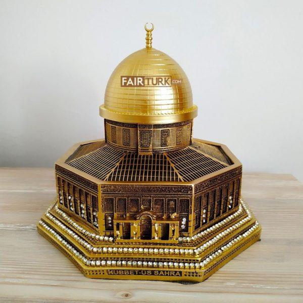 Large Size Gold Color 3D Al-Aqsa Mosque Islamic Table Decor