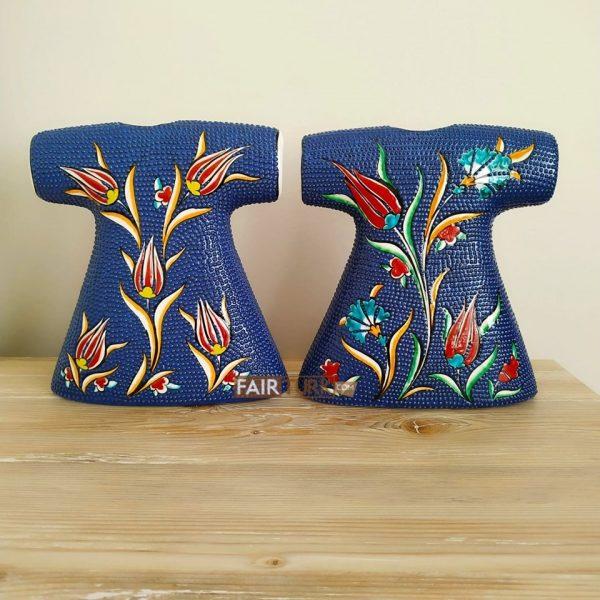 Allah-Mohammed Names Caftan Design Double Ceramic Islamic Gift Set