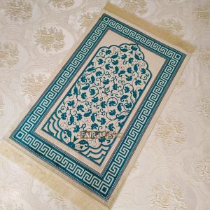 Turquoise Color Soft Plush Muslim Prayer Mat
