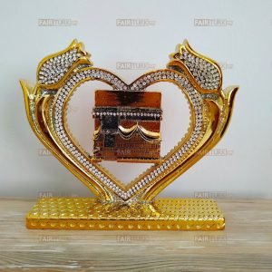 Gold Color Heart Design Kaaba Islamic Gift