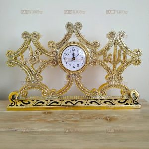 Large Size Gold Color Allah and Mohammad Islamic Table Watch