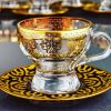 Gold Color Espresso Cup Set With 6 Person