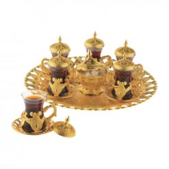 Elite Turkish - Arabic Tea Set For Six With Tray