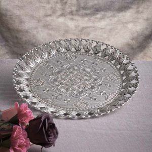 Ecem Round Silver Serving Tray