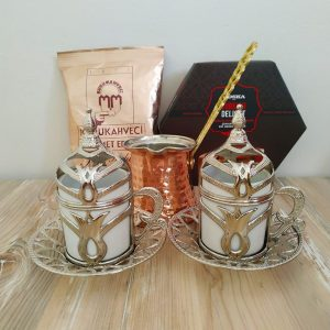 Silver Color Turkish Gift Box With Rose Turkish Delight