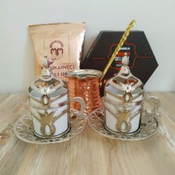 Silver Color Turkish Gift Box With Hazelnut Turkish Delight