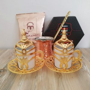 Gold Color Turkish Gift Box With Rose Turkish Delight