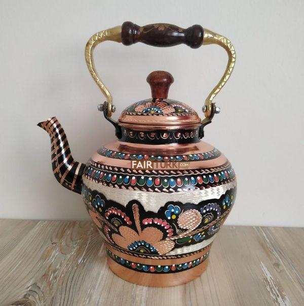 Medium Size Single Handcrafted Copper Tea Pot
