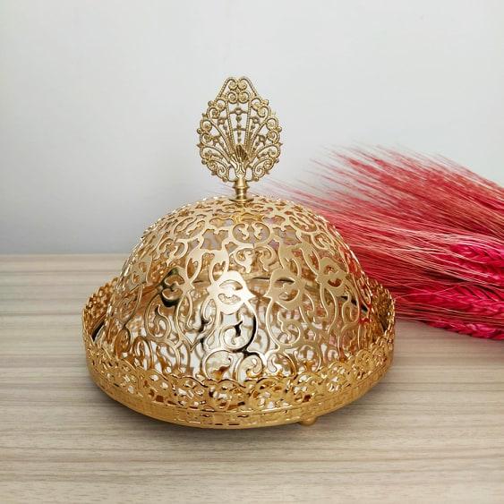 Gold Color Mirror Arabic Snack Bowl