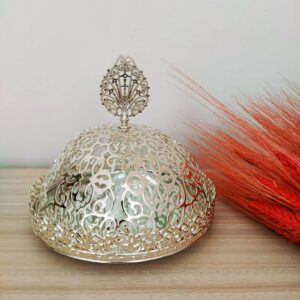 Silver Color Mirror Arabic Snack Bowl