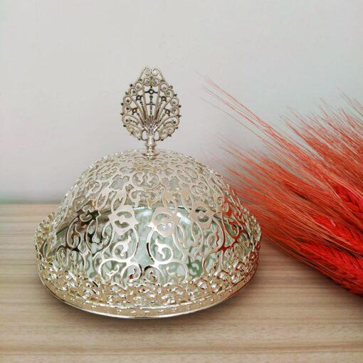 Silver Color Mirror Arabic Snack Bowl