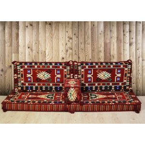 Belkıs Arabic Floor Seating Red Majlis Sofa