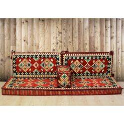 Ürgüp Arabic Floor Seating Red Arabesque Jalsa Set