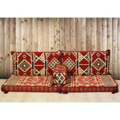 Kilim Arabic Floor Seating Red Oriental Seating Set