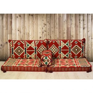 Kilim Arabic Floor Seating Red Oriental Seating Set