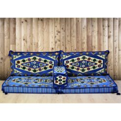 Yörük Arabic Floor Seating Blue Lounge Set