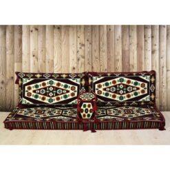 Yörük Arabic Floor Seating Maroon Majilis Sofa