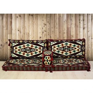 Yörük Arabic Floor Seating Maroon Majilis Sofa