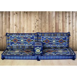 Yörük Arabic Floor Seating Blue Oriental Jalsa Set