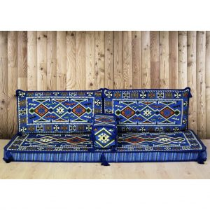Yörük Arabic Floor Seating Blue Oriental Jalsa Set