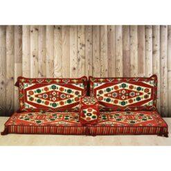 Yörük Arabic Floor Seating Red Oriental Seating Set