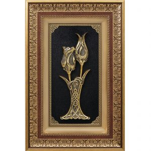 Gold Color Tulip-Rose Wall Frame