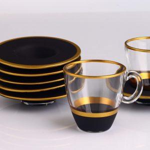 12 Pcs Vegetable Dyed Black Color Espresso Set