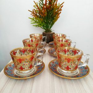 Sehzade Coffee Mugs-Tea Glasses For Six Person