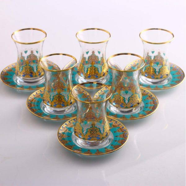 12 Pcs Thin Waist Humeyra Ethnic Tea Set
