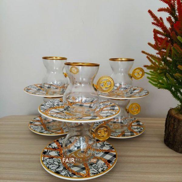 12 Pcs Thin Waist French Modern Tea Set