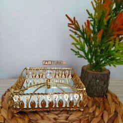 Gold Color Mirror Napkin Holder