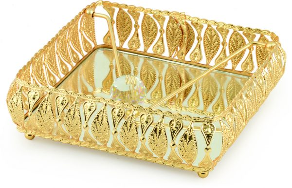 Gold Color Mirror Napkin Holder