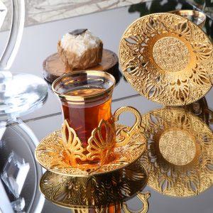 2020 Latest Collection Ahu Turkish Tea Cups Set