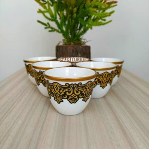 Brown Color Gahwa Six Pieces Mırra Cups