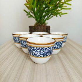Blue Color Gahwa Six Pieces Mırra Cups