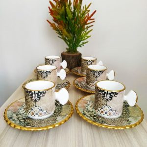 Züleyha Ceramic Coffee Set For Six