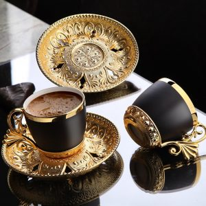 Vegatable Dyed Luxury Gold Color Coffee Set