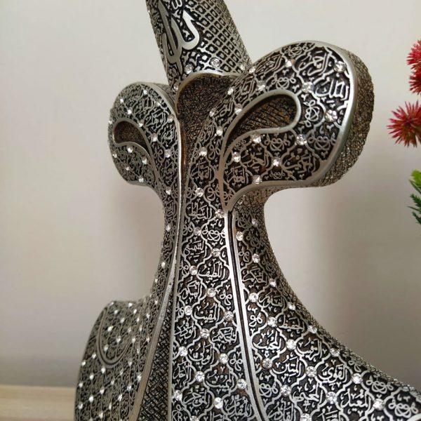 Whirling Dervish VAV Design Islamic Gift In Silver Color