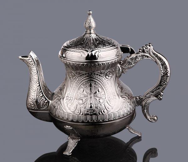 Silver Color Ahsen Zinc Casting Tea Pot
