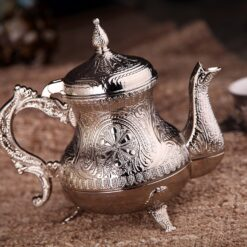 Silver Color Ahsen Zinc Casting Tea Pot