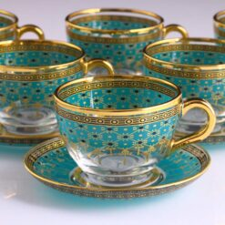 Giray Emerald Green Large Coffee Mugs-Tea Glasses