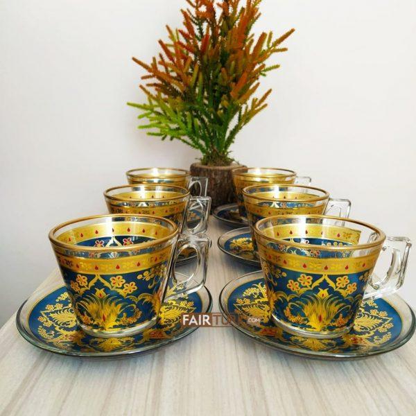 Defne Coffee Mugs-Tea Glasses For Six Person