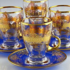 Blue DreamTurkish Tea Set With Saucers 12pcs