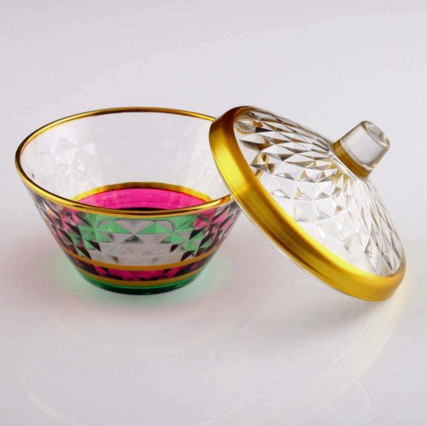 Artemis Colorfull Crystal Round Sugar Bowl