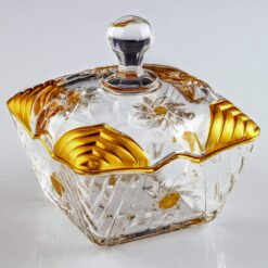 Artemis Gold Color Crystal Sugar Bowl