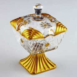Artemis Gold Color Crystal High Sugar Bowl