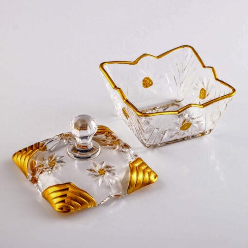 Artemis Gold Color Crystal Sugar Bowl