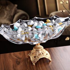X-Large Gold Color Crystall Glass Chocolate Bowl